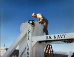 Captain George Kent Inspecting A Missile At White Sands Missile Range Before A Test Firing Circa 1990