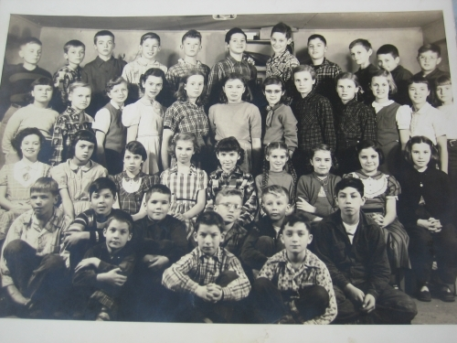 The Danby School 5th and 6th grade classes in either 1954 or 1955