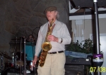 Classmate Fluffy Saccucci rocks on the sax.