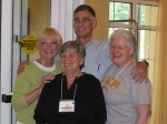 Judi Fowler Quagliaroli, Margie James Perna, Martin Sampson, and Mary Louise (Loulie) Hoffamn Kent